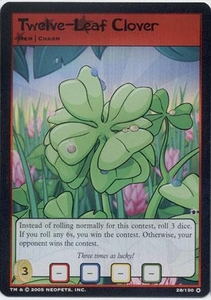 Neopets Darkest Faerie Holofoil Single Card #28 Twelve-leaf Clover