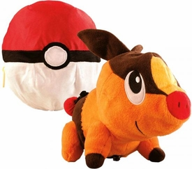 Pokemon TOMY Transforming Poke Ball Plush Tepig