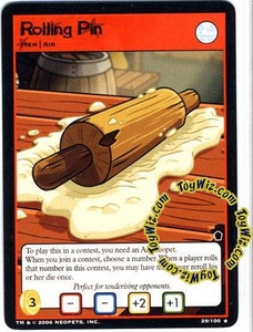 Neopets Trading Card Game Haunted Woods Rare Single Card #29 Rolling Pin