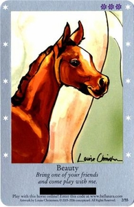 Bella Sara Horses Trading Card Game Series 1 Single Card 2/55 Beauty