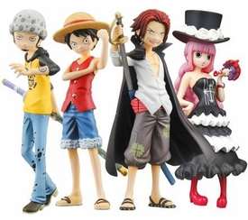 One Piece Bandai Half Age Characters Promise of the Straw Hat Set of 8 Figures [Luffy, Shanks, Law & Perona]