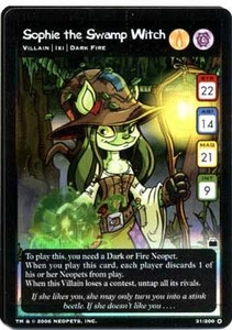 Neopets Trading Card Game Travels in Neopia Holofoil Single Card Sophie the Swamp Witch #31