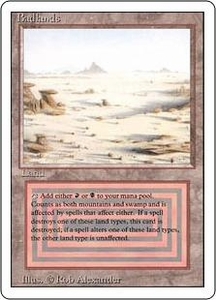 Magic the Gathering Revised Edition Single Card Rare Badlands