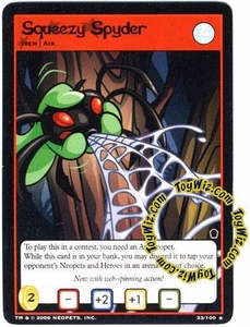 Neopets Trading Card Game Haunted Woods Rare Single Card #33 Squeezy Spyder