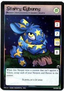 Neopets Trading Card Game Travels in Neopia Holofoil Single Card Starry  Cybunny #33