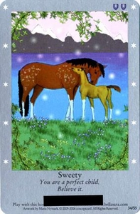 Bella Sara Horses Trading Card Game Series 1 Single Card 34/55 Sweety Only Available in Series 1