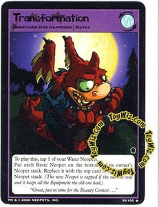 Neopets Trading Card Game Haunted Woods Rare Single Card #35 Transformation