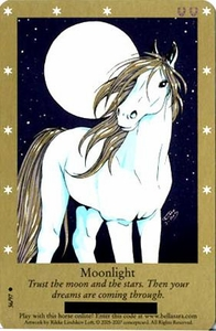 Bella Sara Horses Trading Card Game Series 2 Single Card Common 36/97 Moonlight