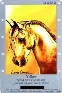 Bella Sara Horses Trading Card Game Series 1 Single Card 36/55 Yellow