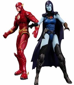 DC Injustice: Gods Among Us 3.75 Inch Action Figure 2-Pack Flash & Raven Pre-Order ships March