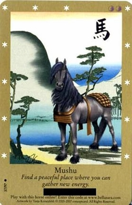 Bella Sara Horses Trading Card Game Series 2 Single Card Common 37/97 Mushu Short Print Card