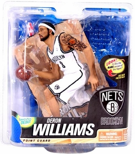 McFarlane Toys NBA Sports Picks Series 22 Action Figure Deron Williams (Brooklyn Nets) White Jersey BLOWOUT SALE!