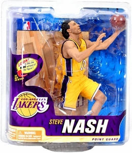 McFarlane Toys NBA Sports Picks Series 22 Action Figure Steve Nash (Los Angeles Lakers) Yellow Jersey