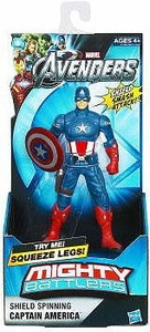 Marvel Avengers Movie Mighty Battlers Shield Spinning Captain America