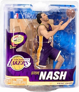 McFarlane Toys NBA Sports Picks Series 22 Action Figure Steve Nash (Los Angeles Lakers) Purple Jersey Collector Level Only 1,500 Made!