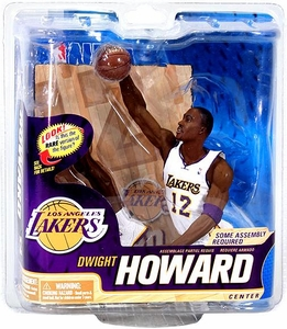 McFarlane Toys NBA Sports Picks Series 22 Action Figure Dwight Howard (Los Angeles Lakers) White Jersey Collector Level Only 1,000 Made!