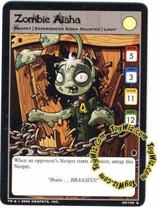 Neopets Trading Card Game Haunted Woods Rare Single Card #39 Zombie Aisha