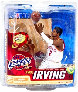 McFarlane Toys NBA Sports Picks Series 22 Action Figure Kyrie Irving (Cleveland Cavaliers) White Jersey Collector Level Only 500 Made!