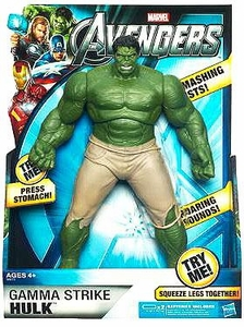 Marvel Avengers Movie 10 Inch Deluxe Figure Gamma Strike Hulk BLOWOUT SALE!