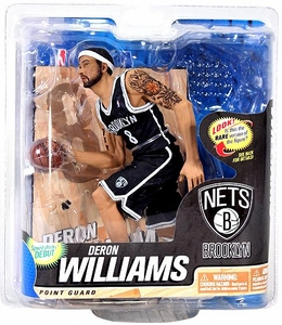 McFarlane Toys NBA Sports Picks Series 22 Action Figure Deron Williams (Brooklyn Nets) Black Jersey Collector Level Only 2,000 Made!