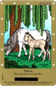 Bella Sara Horses Trading Card Game Series 2 Single Card Common 39/97 Nikita