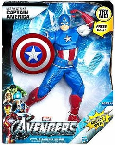 Marvel Avengers Movie Ultimate Electronic Figure Ultra Strike Captain America BLOWOUT SALE!