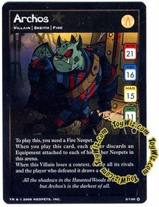 Neopets Trading Card Game Haunted Woods Holofoil Single Card #3 Archos