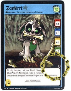 Neopets Trading Card Game Haunted Woods Rare Single Card #40 Zomutt