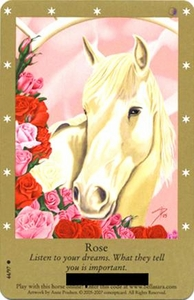 Bella Sara Horses Trading Card Game Series 2 Single Card Common 44/97 Rose