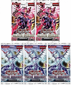 YuGiOh Lot of 5 Booster Packs [3x Photon Shockwave & 2x Galactic Overlord] BLOWOUT SALE!