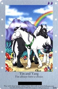 Bella Sara Horses Trading Card Game Series 1 Single Card Rare 45/55 Yin and Yang