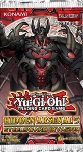 YuGiOh Hidden Arsenal 5: Steelswarm Invasion Booster Pack [5 Cards]