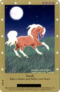 Bella Sara Horses Trading Card Game Series 2 Single Card Common 47/97 Sarah