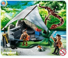 Playmobil Treasure Hunters Set #4843 Treasure Hunters Camp with Giant Snake