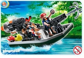 Playmobil Treasure Hunters Set #4845 Treasure Robbers Boat with Cannon