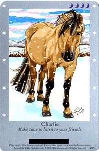 Bella Sara Horses Trading Card Game Series 1 Single Card 4/55 Charlie