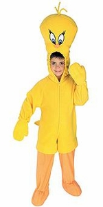 Looney Toons Kids Costume Fleece Tweety Bird (Child) #50983