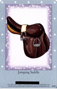 Bella Sara Horses Trading Card Game Series 1 Single Card Rare 50/55 Jumping Saddle