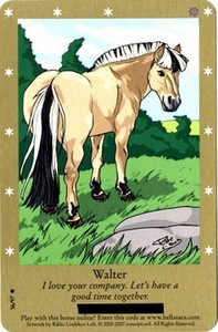 Bella Sara Horses Trading Card Game Series 2 Single Card Common 56/97 Walter