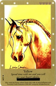 Bella Sara Horses Trading Card Game Series 2 Single Card Common 58/97 Yellow