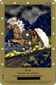 Bella Sara Horses Trading Card Game Series 2 Single Card Common 5/97 Bosi Shart Print Card