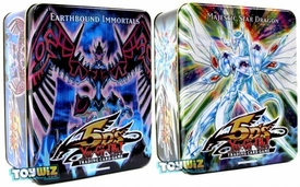YuGiOh 5D's 2009 Set of Both Wave 2 Collector Tins [Earthbound Immortal Wiraqocha Rasca & Majestic Star Dragon]