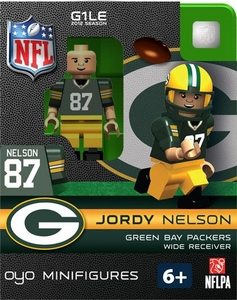 OYO Football NFL Building Brick Minifigure Jordy Nelson [Green Bay Packers]