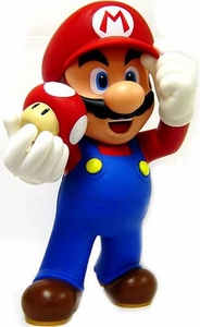 New Super Mario Brothers BanPresto 12 Inch Desk Top Sofbi Vinyl Figure Mario