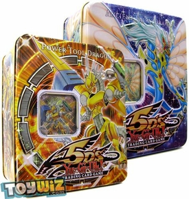 YuGiOh 5D's 2009 Set of Both Wave 1 Collector Tins [Ancient Fairy Dragon & Power Tool Dragon] BLOWOUT SALE!