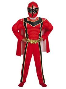 Power Rangers Mystic Force #6373 Red Ranger Muscle Chest Costume (Child Small Size 4-6)