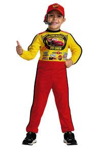Disney's Cars #6393 Lightning McQueen Pit Crew Costume (Child Small Size 4-6)