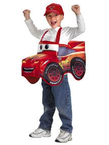 Disney's Cars #6456 Deluxe Lightning McQueen 3D Costume (Child Standard Size)