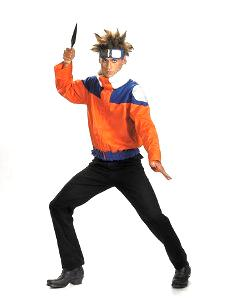 Naruto Costume #6473 Naruto Deluxe Jacket Cosplay (Adult XL Size 42-46)