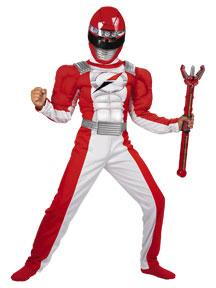 Power Rangers Operation Overdrive #6558 Red Ranger Quality Muscle Costume (Child Medium 7-8)